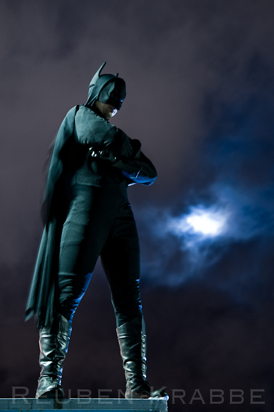Our Batman costume used for a photo shoot.